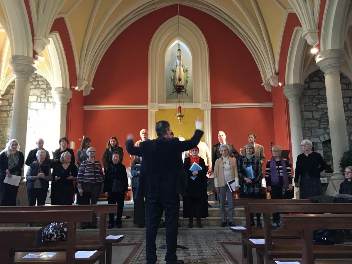 Goethe Choir Rehearsal Glencree Centre of Peace & Reconsiliation concert