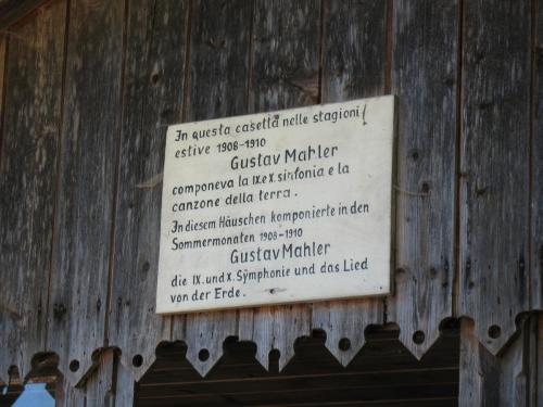 Plaque on Mahler's composer's hut